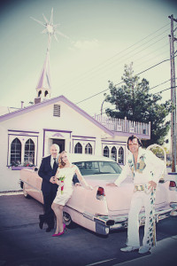 Vegas Elvis Wedding at Wee Kirk Wedding Chapel | Las Vegas Elvis Weddings